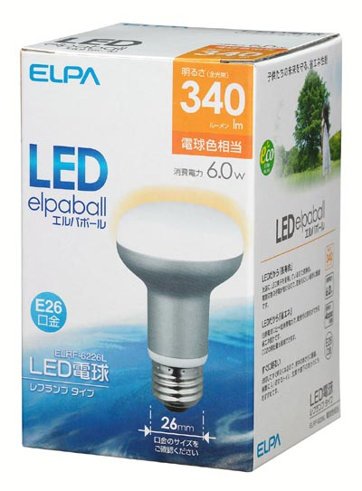 elpaball mini ELRF-6226L [電球色相当]