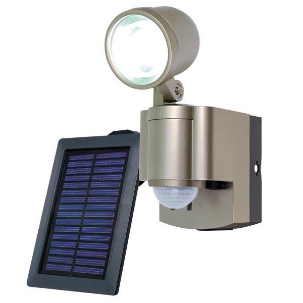 (ソーラー)LED×2灯・防雨センサーライト(太陽電池)ESL-302SL/エルパ ...